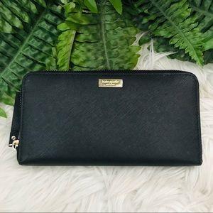 Kate Spade - Long Black Zippy Wallet